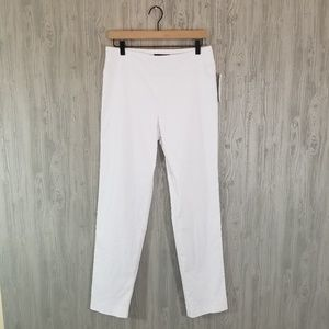 Krazy Larry NWT White Pull-On Ankle Pant 10